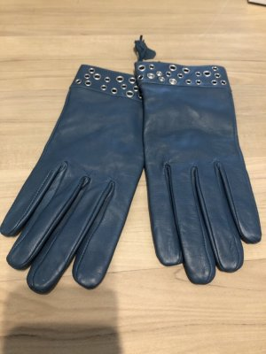 C&A Leather Gloves cadet blue-petrol