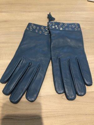 C&A Leather Gloves cadet blue-petrol
