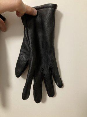 mbyM Leren handschoenen zwart Leer