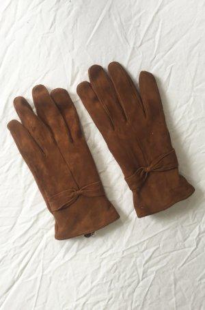 Mango Leren handschoenen veelkleurig Leer
