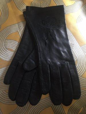 Leather Gloves black