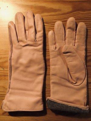 Leren handschoenen rosé
