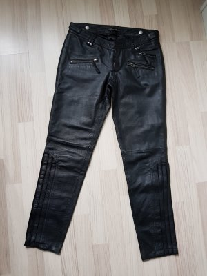 Pepe Jeans Leather Trousers black