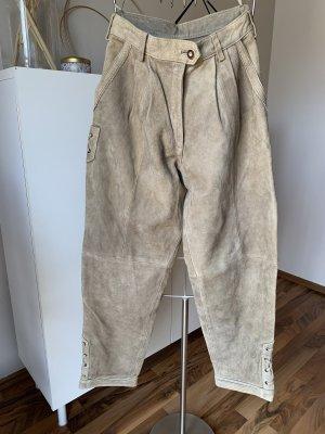 Pöllinger Pantalone in pelle tradizionale crema Pelle