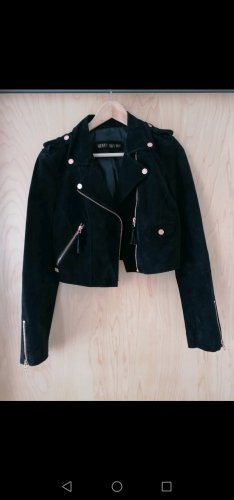 Freaky Nation Robe en cuir noir