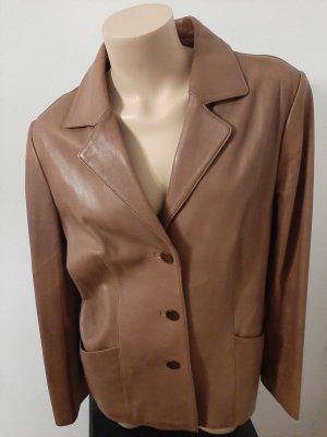 Cabrini Robe en cuir marron clair