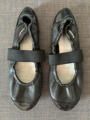 Reebok Foldable Ballet Flats black-white leather