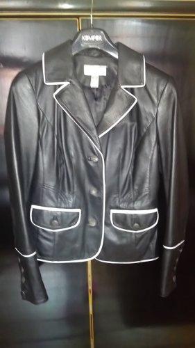 Heine Leather Blazer black