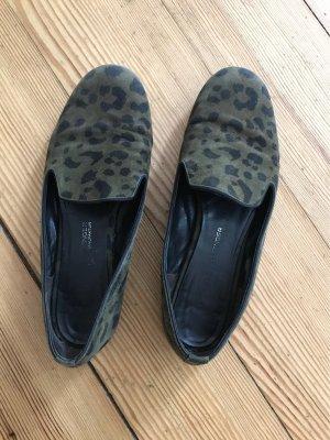 Echtleder Loafer Animal Print