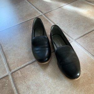 Cox Zapatos formales sin cordones negro Cuero