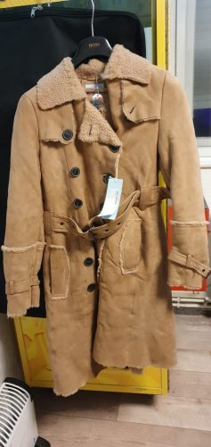 Strenesse Leather Coat camel-beige leather