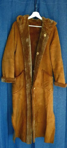 Leather Coat bronze-colored leather