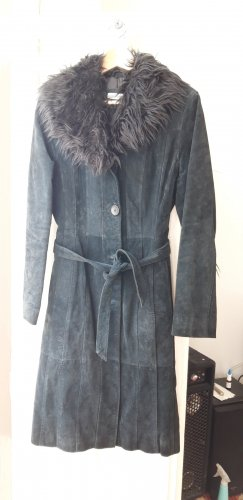 C&A Clockhouse Manteau en cuir noir