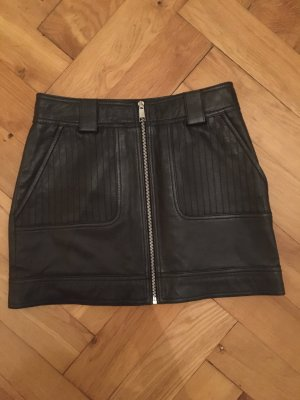 Topshop Leather Skirt black leather