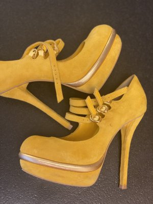 Carvela Strapped pumps gold-colored-primrose leather