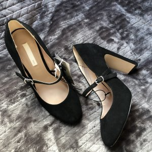 H&M Strapped pumps black leather