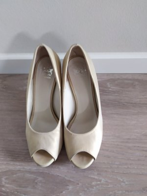 Otto Kern Peep Toe Pumps oatmeal