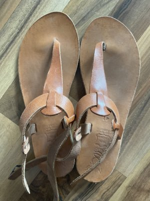 Vintage Romeinse sandalen veelkleurig Leer
