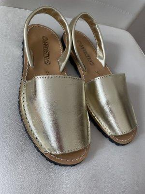 Sandale d'extérieur doré-noir