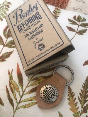 Echtleder-Schlüsselanhänger von Replay * Neu in Originalverpackung