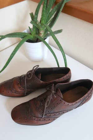 Alessandro Bonciolini Lace Shoes dark brown-brown leather