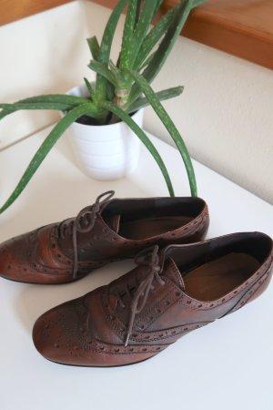 Echtleder Schuhe Schnürschuhe Vintage Gr. 40 Alessandro Bonciolini