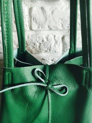 Echtleder Shopper Handtasche Henkeltasche NEU weich grün
