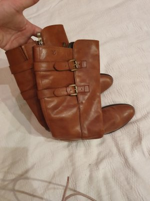 Caprice Wide Calf Boots brown leather