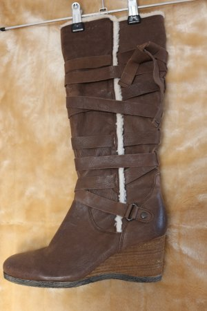 5 th Avenue Heel Boots brown-cognac-coloured leather