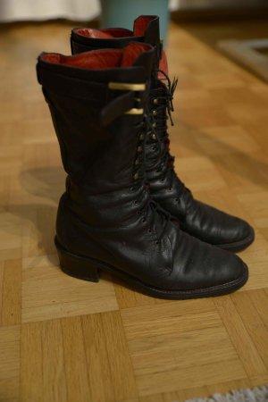 Cothurne noir cuir