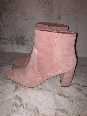 Echtleder Stiefel Velour millenial rosa Marke Pier One