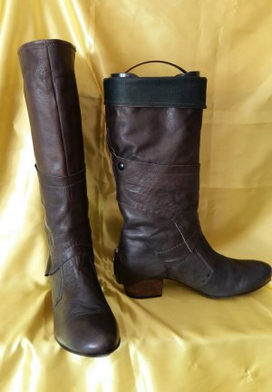 1060 Jackboots grey brown leather