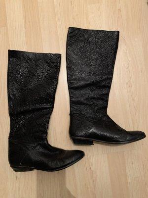 Echtleder-Stiefel von Zara