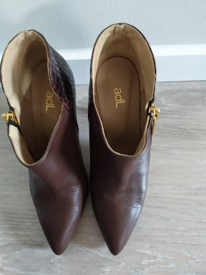 adl Zipper Booties brown