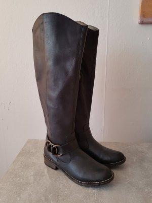 Wide Calf Boots dark brown-black brown leather
