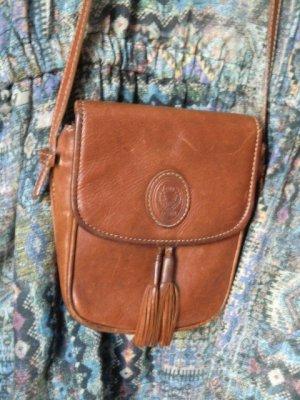 Echtleder Tasche DISSER Fransen Umhängetasche Ethno Leder Vintage  braun handtasche Festival