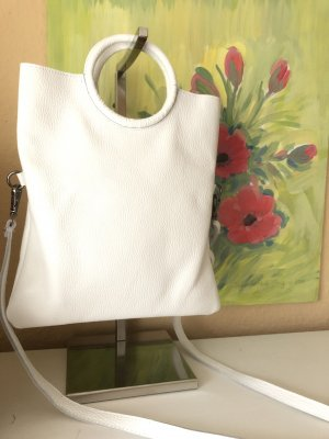 Echtleder Tasche Weiß