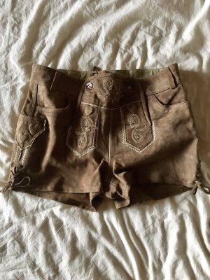 Esmara Tradycyjne skórzane spodnie jasnobrązowy-brązowy