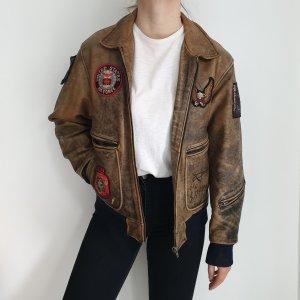 Vintage Beige Nude Creme Leder Wildleder Wildlederjacke Lederjacke Jacke S M L XL 38 40 42 Oversize