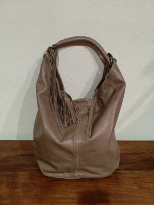 Hobos grey brown-beige leather