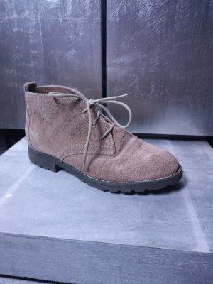 Echtleder  Etno Winterstiefeletten Gr 38 Stiefelette Stiefeletten Ankle Boots  Lederschuhe beige creme