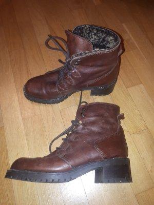 Buty zimowe ciemnobrązowy