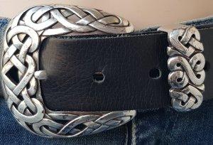 A-Zone Cintura di pelle nero