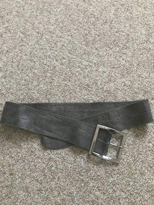 Vera Pelle Cintura di pelle grigio-grigio scuro Pelle