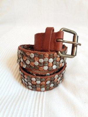 Cintura borchiata multicolore