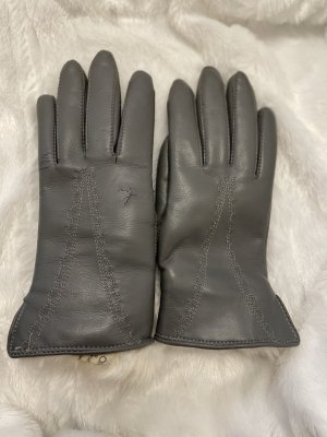 Vintage Leather Gloves grey-natural white