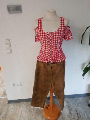 Pantalone in pelle tradizionale marrone chiaro