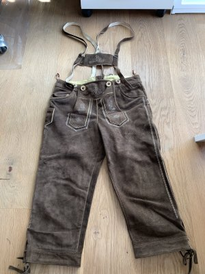 Grasegger Leather Trousers brown-white