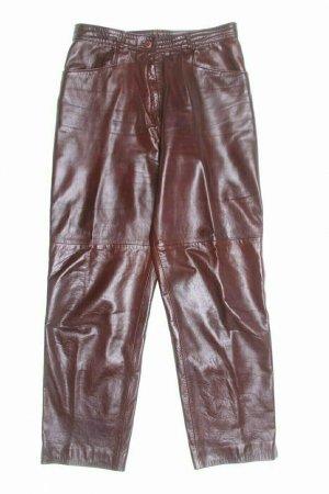 keine Marke bekannt Pantalon en cuir brun cuir