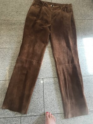 Together Pantalón de cuero marrón Cuero
